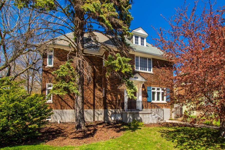 La façade de la maison du 4291, rue Sherbrooke Ouest, à Westmount