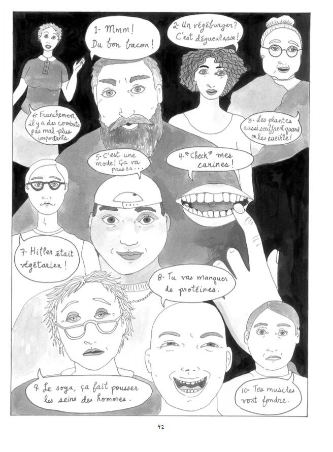 Extrait du livre Comment (et pourquoi) je suis devenue végane, d'Eve Marie Gingras, Écosociété, 144pages