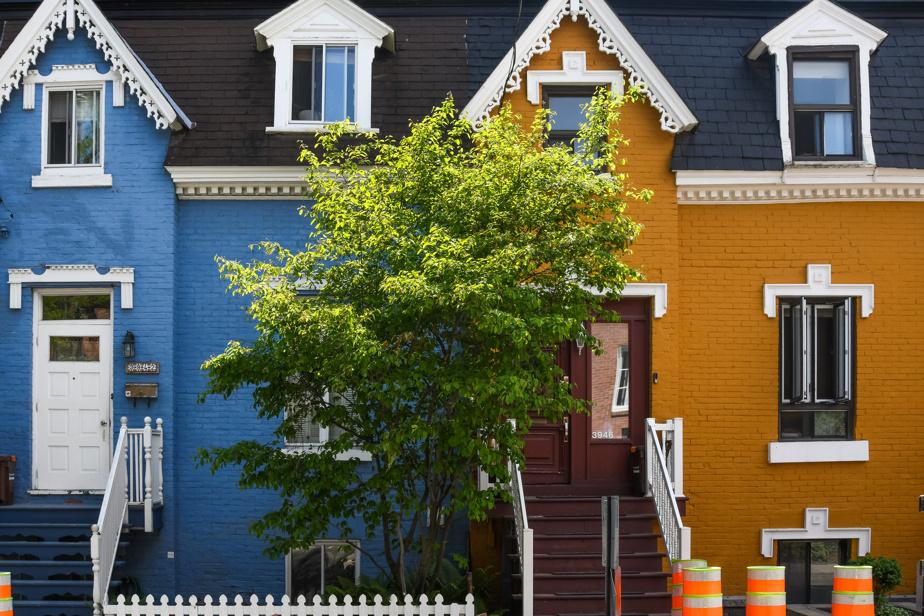 Façade colorée, rue Drolet, à Montréal