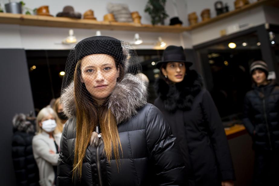 Canadian Hat et Harricana ont montré leurs chapeaux et manteaux agrémentés de fourrure recyclée.