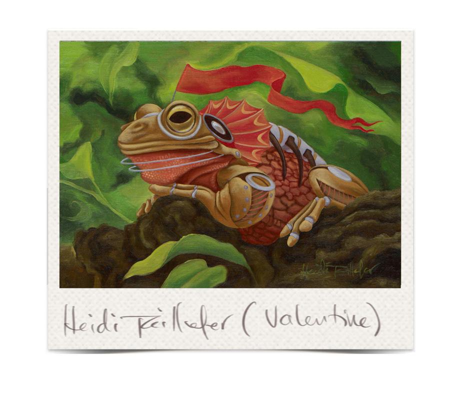 Valentine, 2021, Heidi Taillefer, huile sur carton, 5po x 7po