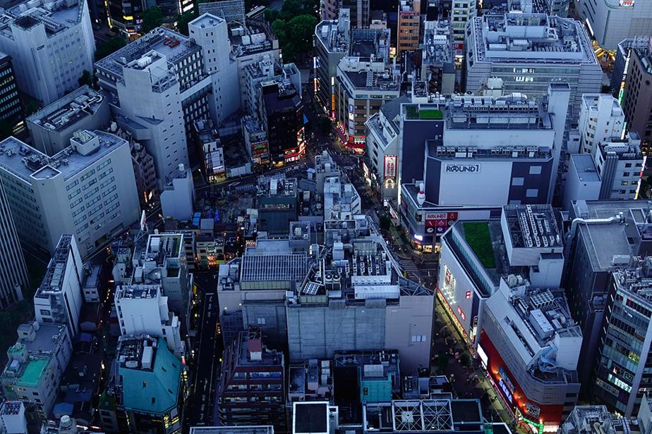 Une vue du quartier Ikebukuro de Tokyo, à partir du sommet de l'édifice Sunshine City60