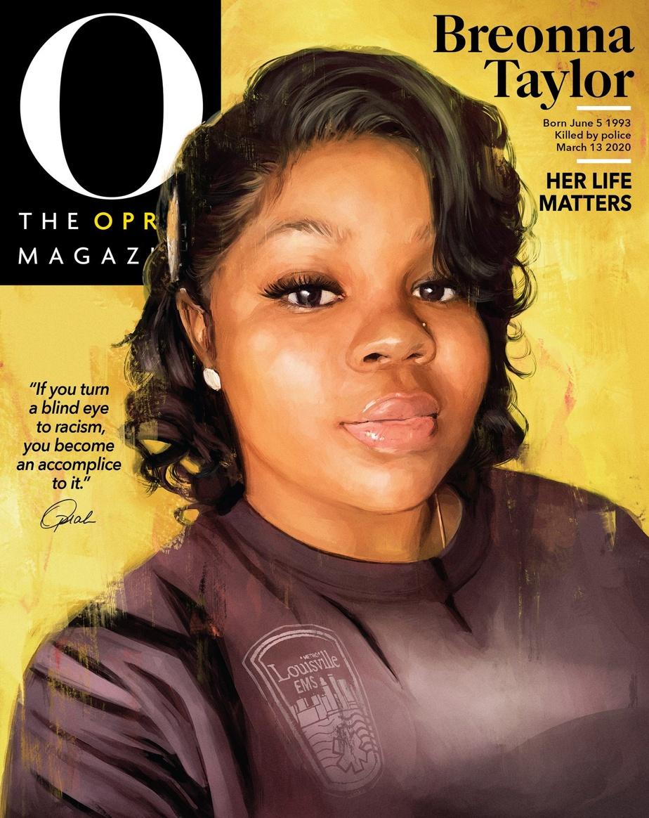 Pour la première fois, Oprah Winfrey ne fait pas la couverture de son célèbre magazine. La couverture du numéro de septembre rend en effet hommage à Breonna Taylor, elle aussi victime de brutalité policière.