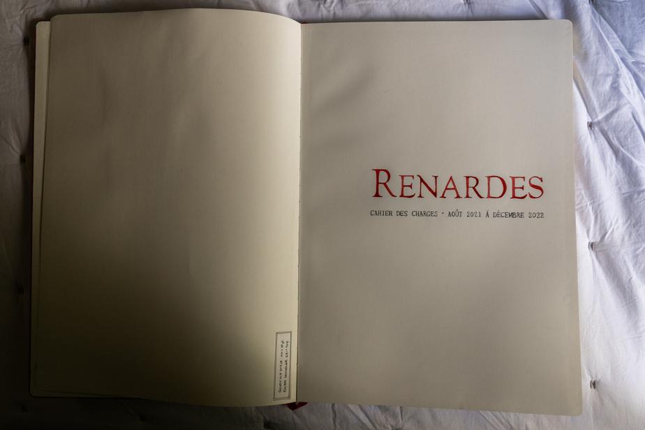 Le cahier des charges de son projet de livre d'artistes Renardes
