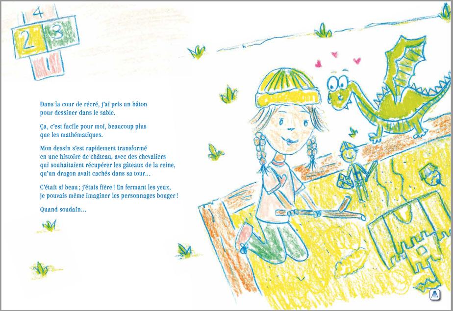Extrait d'Angélie-la-lune, texte et illustrations de Geneviève Jetté, Les Éditions Alaska