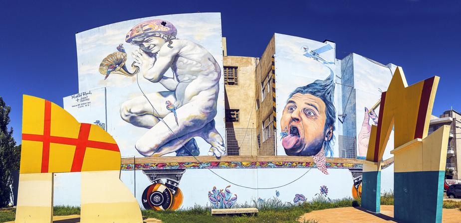 Une œuvre murale extravagante signée Martín Ron