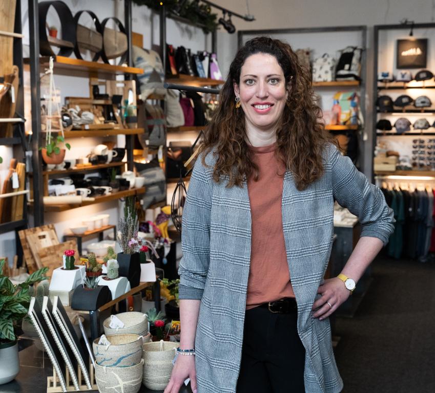 Catherine Lecompte, propriétaire de la boutique Arloca