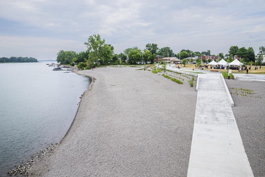 La nouvelle plage de l'Est, inaugurée lundi