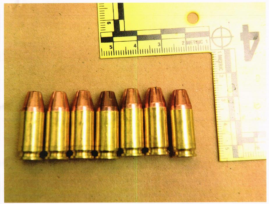 Les munitions qu'avait Pascale Ferrier lors de son arrestation
