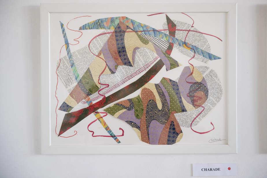 Charade, 2020, Christiane Léaud, collage, 31cm x 41cm.