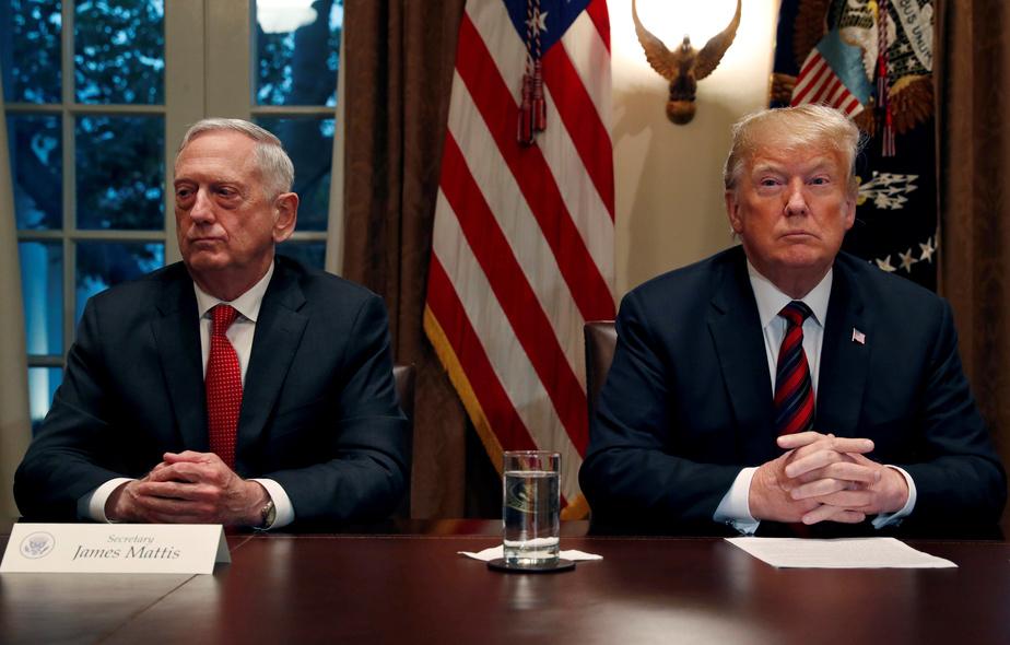 REUTERS James Mattis et Donald Trump