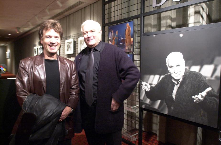 Claude Meunier et Michel Dumont lors de la présentation de la programmation pour la saison 2000-2001 de la Compagnie Jean-Duceppe.