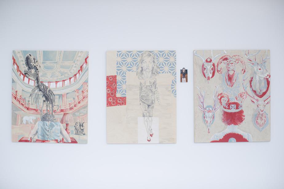 Trois œuvres de Marianne Pon-Layus réalisées à la galerie JanoLapin