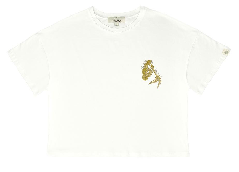 Ce t-shirt en coton bio avec dessin exclusif de l'artiste canadienne Ola Volo (68$) fait aussi partie de la collection Valentine Thomas x Rose Buddha x Ocean Wise.