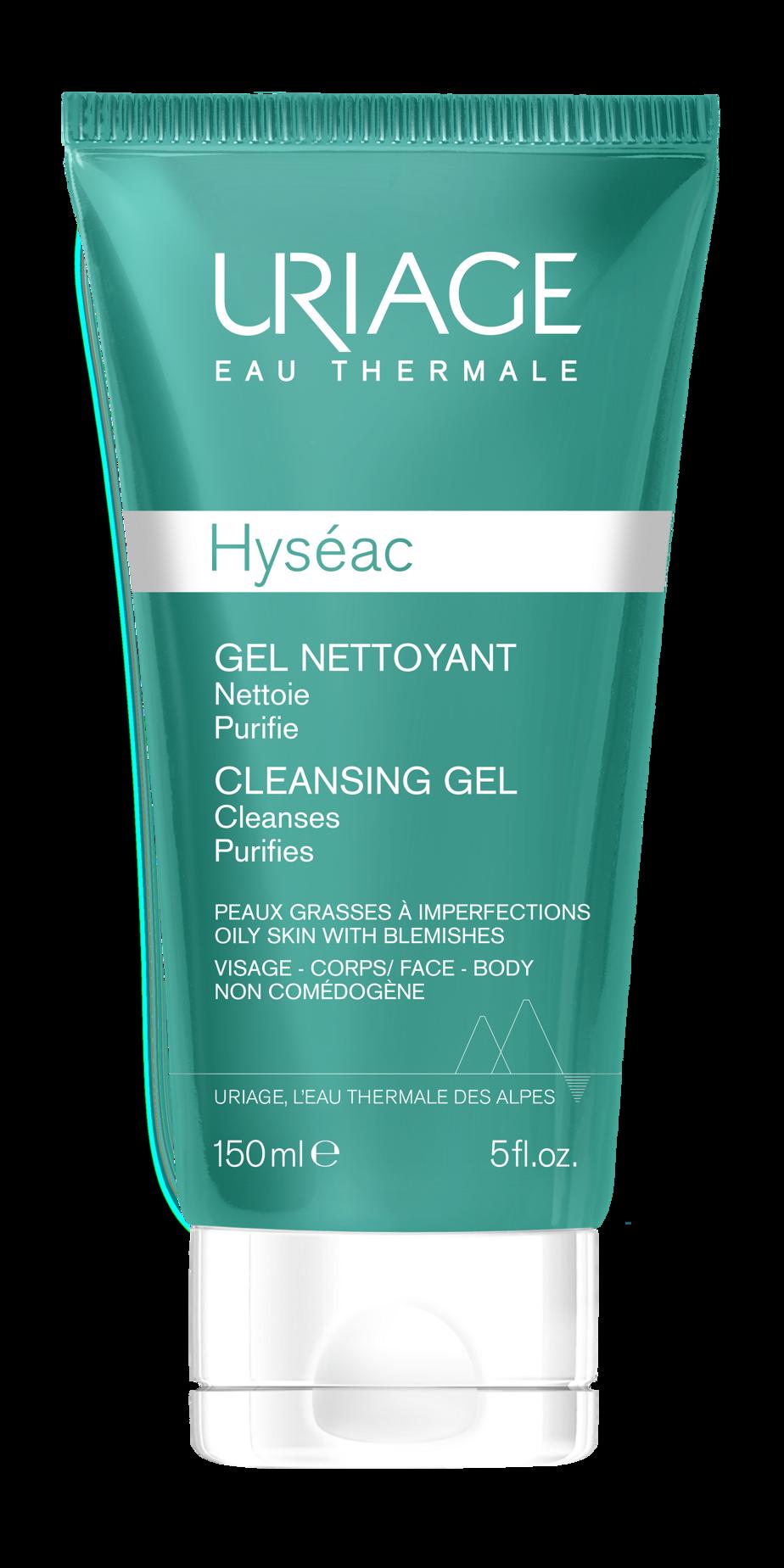 Le gel nettoyant de la gamme Hyséac d'Uriage