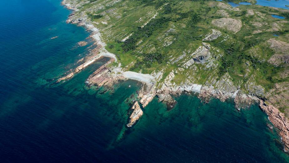 La topographie de la petite île la rend exceptionnelle.