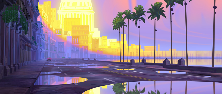 Vision préliminaire de LaHavane au lever du soleil, réalisée par Andy Harkness
