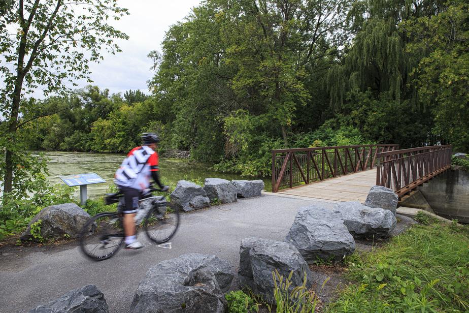 Le parc de la Frayère, milieu humide protégé où plus de 40 espèces de poissons viennent se reproduire au printemps.