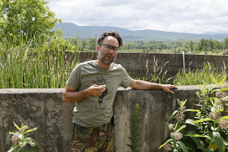 Yan Gordon souhaite développer une serre hydroponique, dans un ancien enclos transformé en étang.