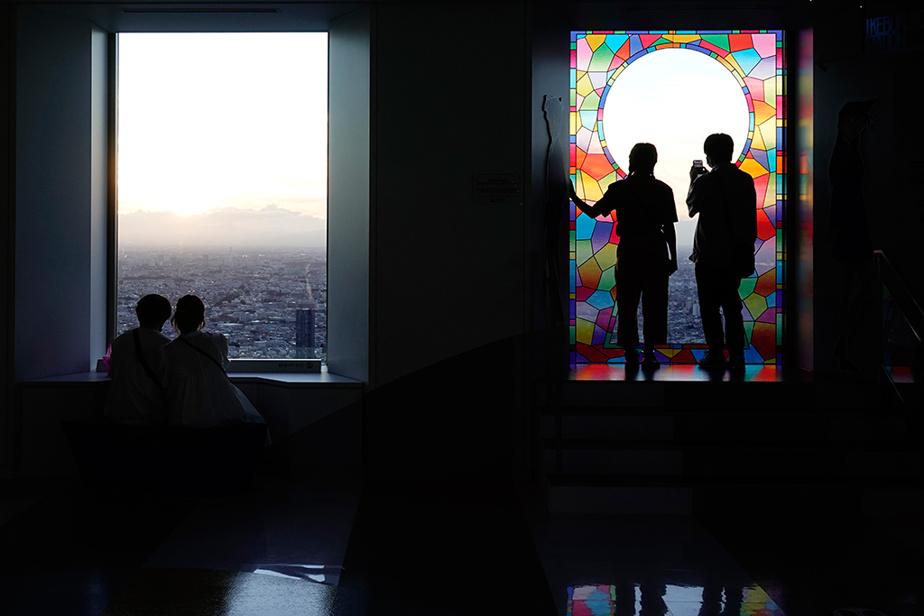 Une vue de la ville de Tokyo à partir du sommet de l'édifice Sunshine City60. Avec une hauteur de 251m, c'est l'un des plus hauts édifices de la ville.