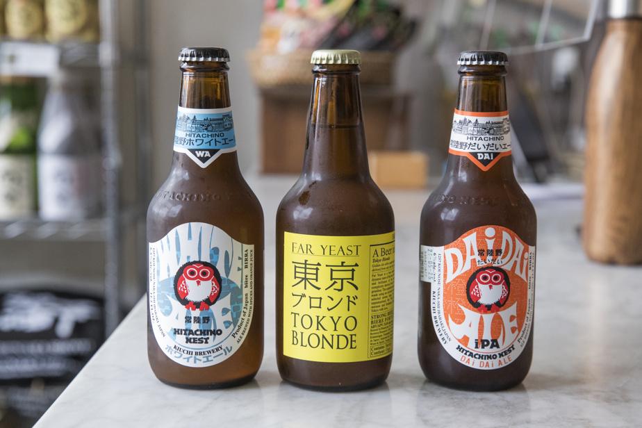 On peut se procurer sur place des bières japonaises importées.