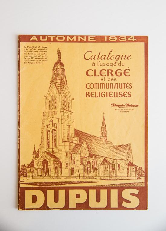 Le catalogue du clergé Dupuis Frères 1934