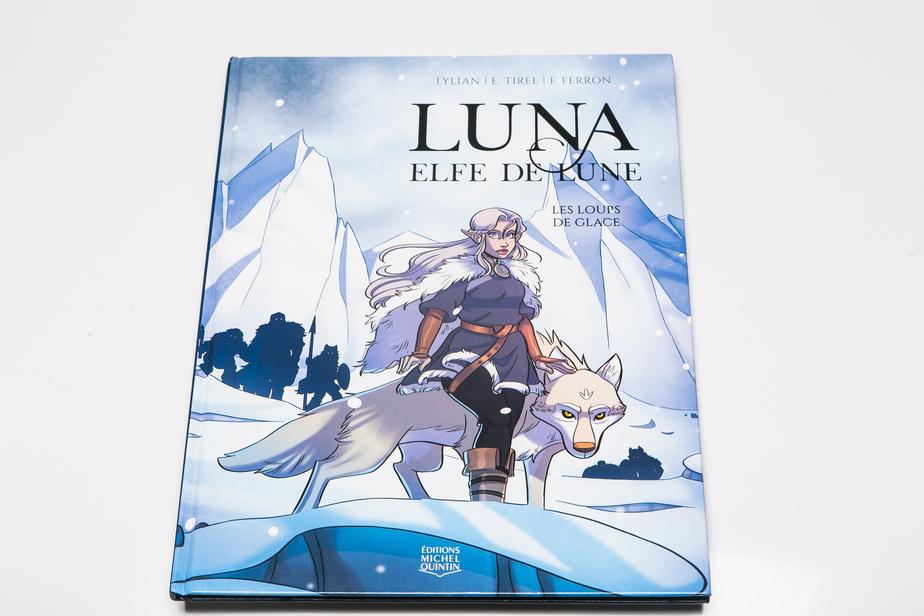 Luna, elfe de lune, scénario de Lylian et d'Elodie Tirel, dessins de Julie Fontaine Ferron, Éditions MichelQuintin