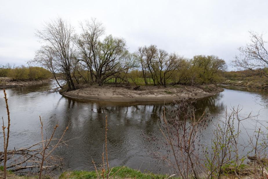 L'une des parcelles du domaine donne sur un méandre de la rivière L'Assomption.