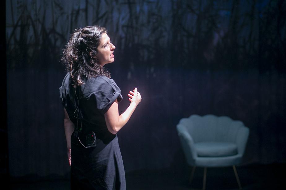 Chloé Lacasse en répétition pour son spectacle Les eaux claires