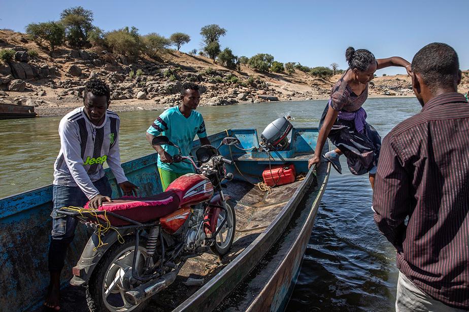 La rivière Tekezé se confond avec la frontière qui sépare l'Éthiopie du Soudan.
