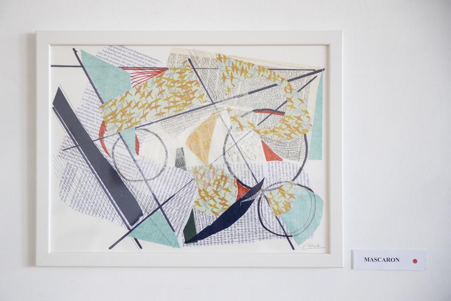 Mascaron, 2020, Christiane Léaud, collage, 31cm x 41cm.