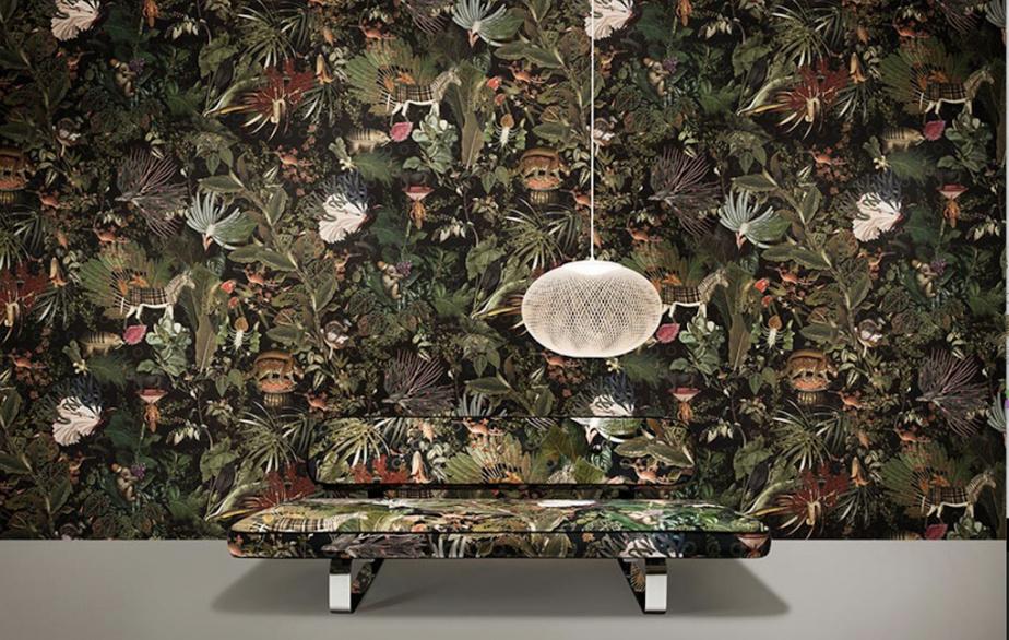 Collection La ménagerie des animaux disparus, Moooi Wallcovering, chez C&M textiles