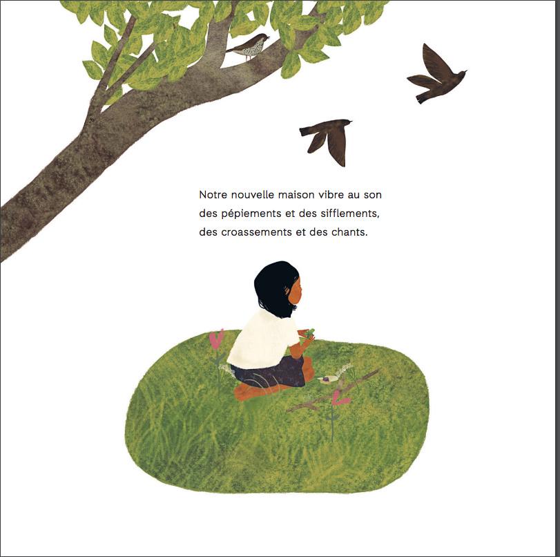 Extrait de Mon amie Agnès, texte et illustrations de Julie Flett, traduction de Fanny Britt, éditions La Pastèque