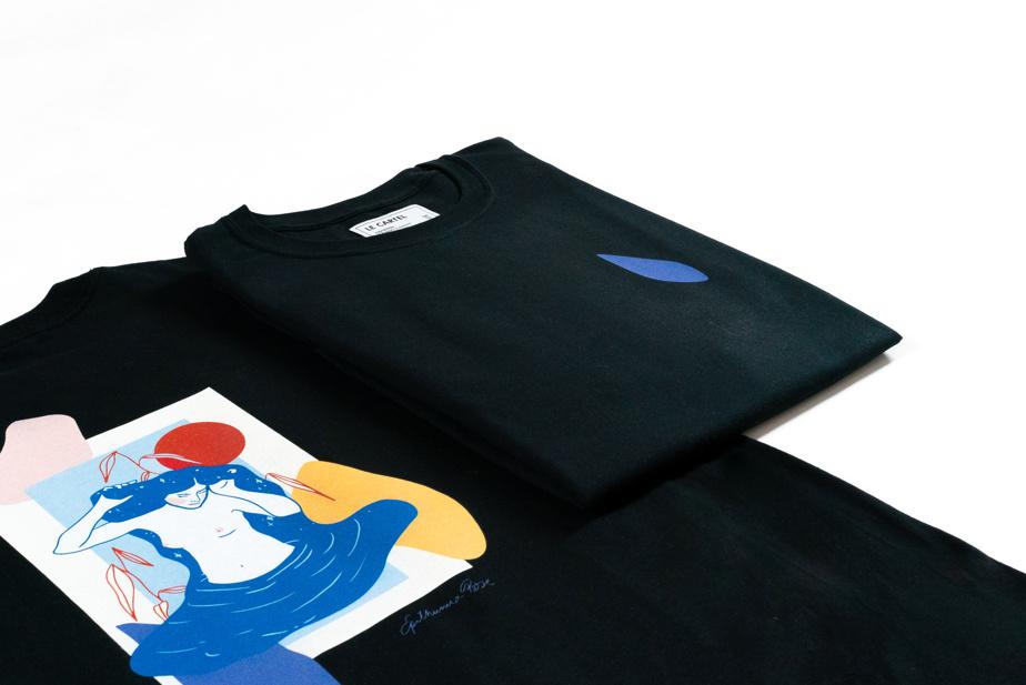 La collection comprend aussi un t-shirt, offert pour 40$
