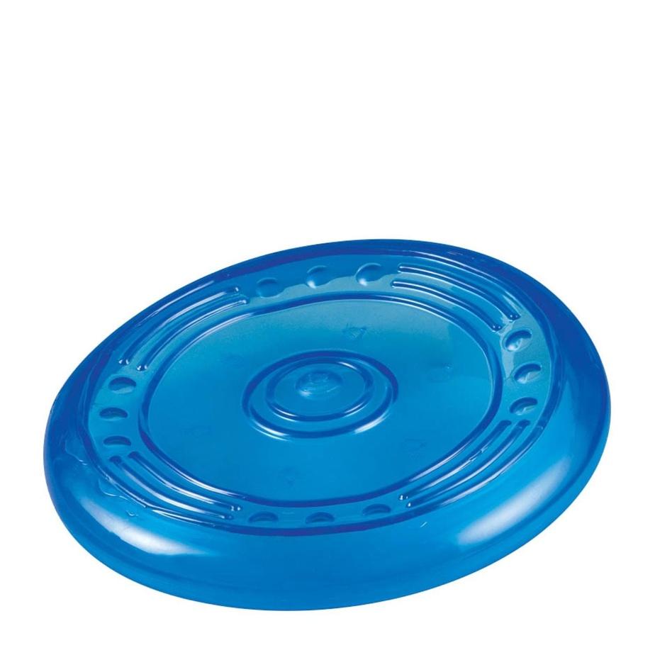 Le frisbee est très apprécié des chiens énergiques. Il est possible de le lancer sur l'eau, mais il faut s'assurer que l'objet puisse flotter, comme c'est le cas pour ce modèle.
