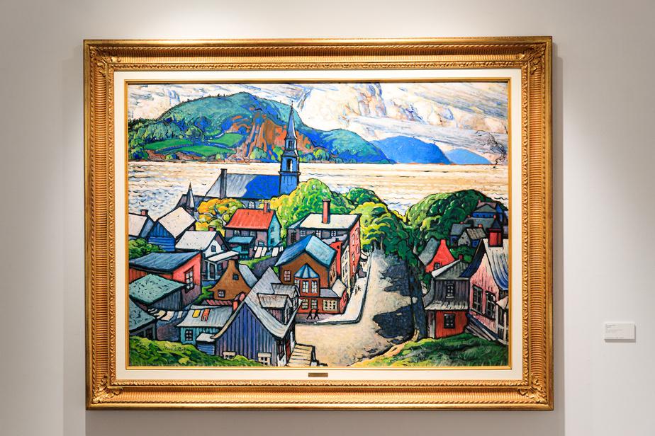 Bagotville, 1948, Marc-Aurèle Fortin, huile sur panneau, 91,4cm x 122cm.