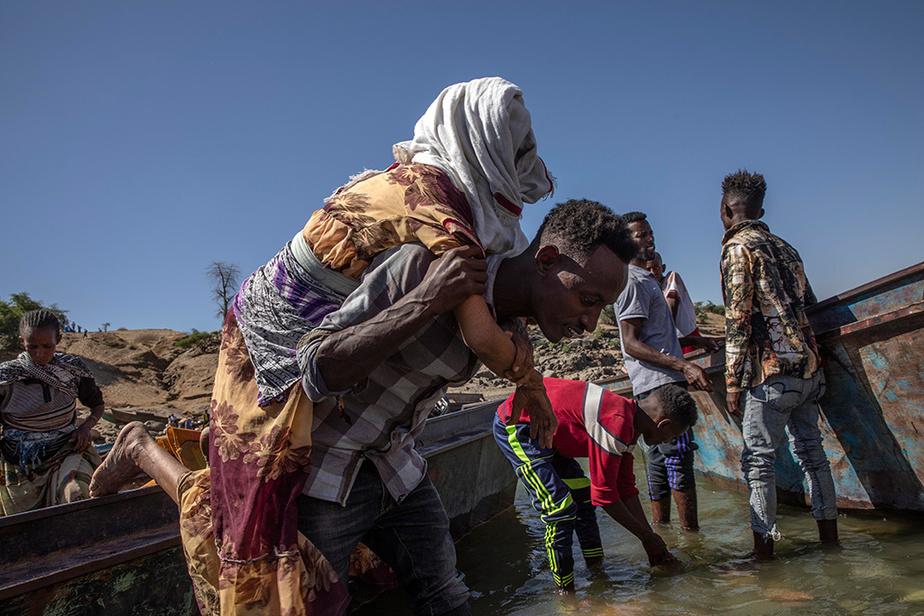 L'endroit est devenu le principal point de passage des réfugiés éthiopiens provenant de la région du Tigré.