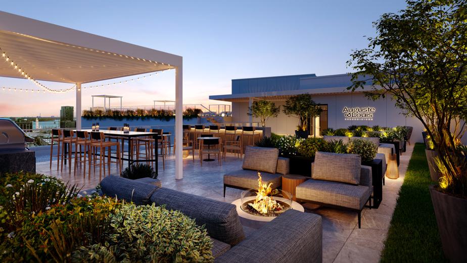 Le promoteur prévoit des aires communes spacieuses. Ici, la terrasse sur le toit.