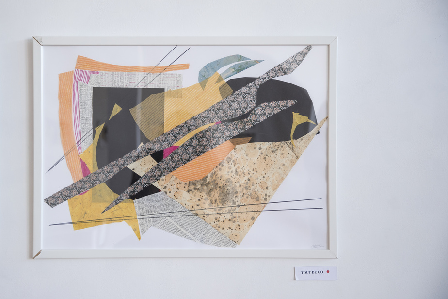 Tout de go, 2020, Christiane Léaud, collage, 50cm x 70cm.