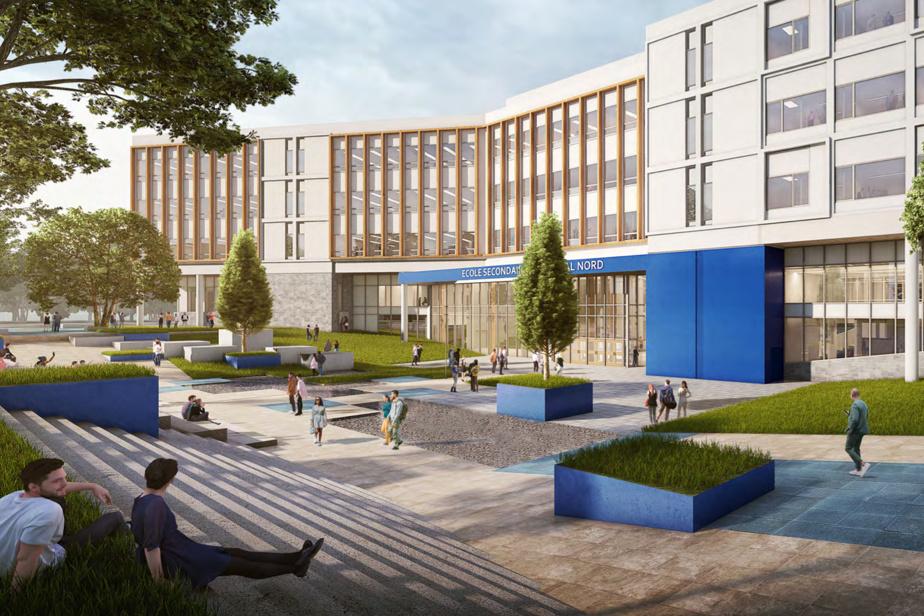 Vue extérieure de la future école secondaire qui sera construite à Montréal-Nord