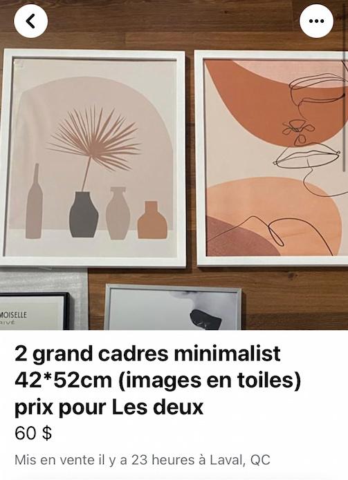 Deux cadres avec affiches