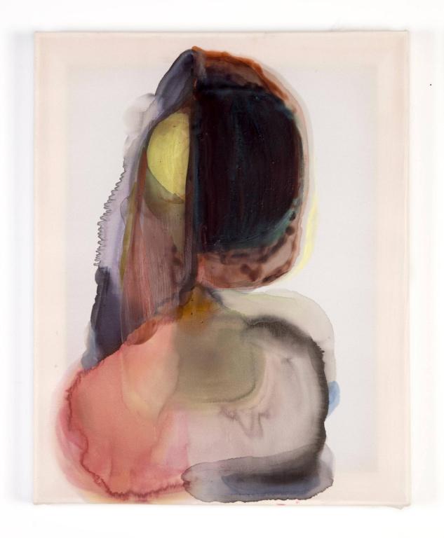 Untitled, 2016, Sarah Pupo, aquarelle et cire sur soie, 18po x 24po. L'œuvre a été vendue 460$ le 21avril dernier.