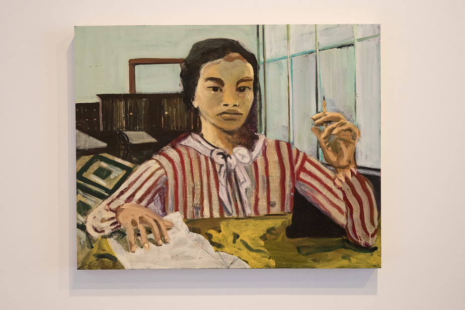 Afterward, 2019, Maia Cruz Palileo, huile sur panneau, 61cm x 76,2cm. Collection de Young-Abraham.