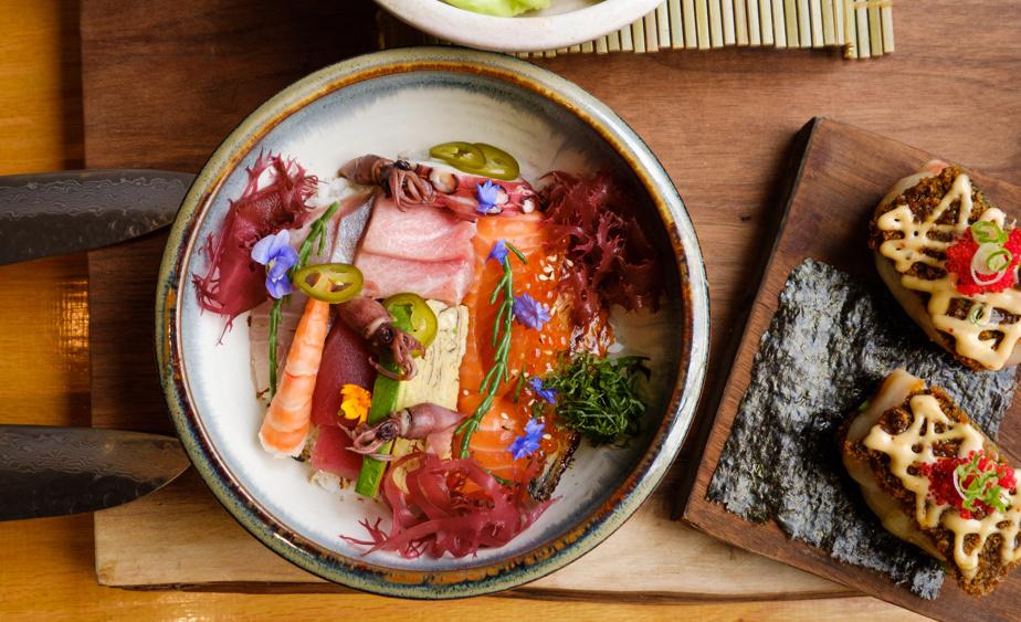 Un des plats au menu à emporter du Kokochi Izakaya: le bol shirashi
