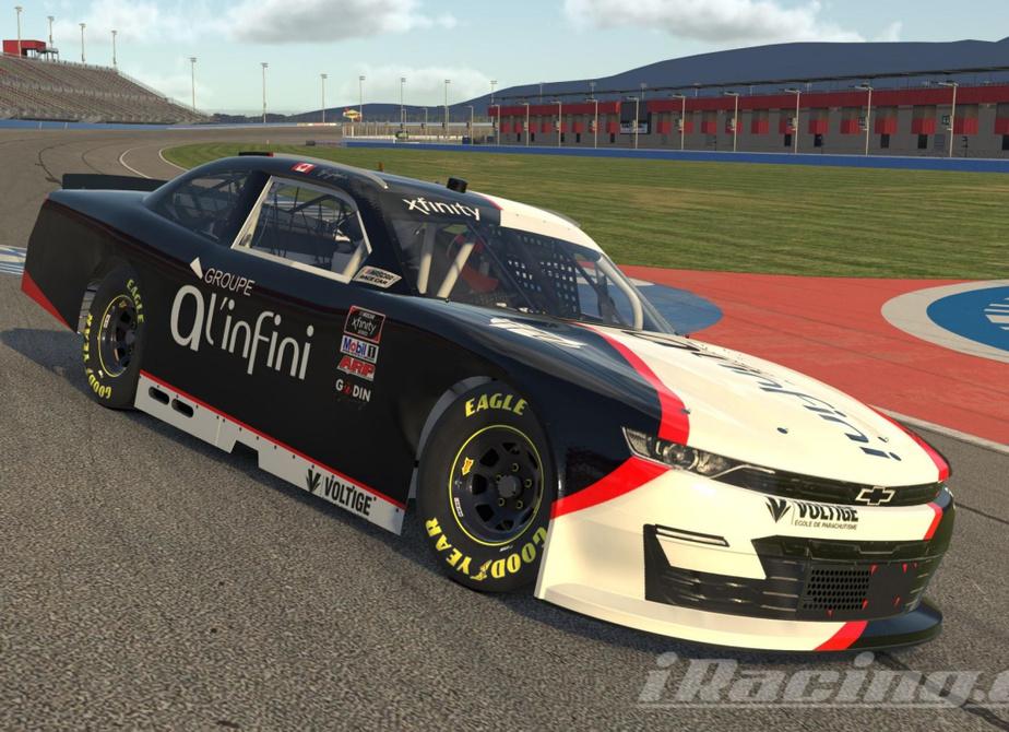 Voiture de Bertrand Godin pour le championnat virtuel Canadian Sim Racing Series