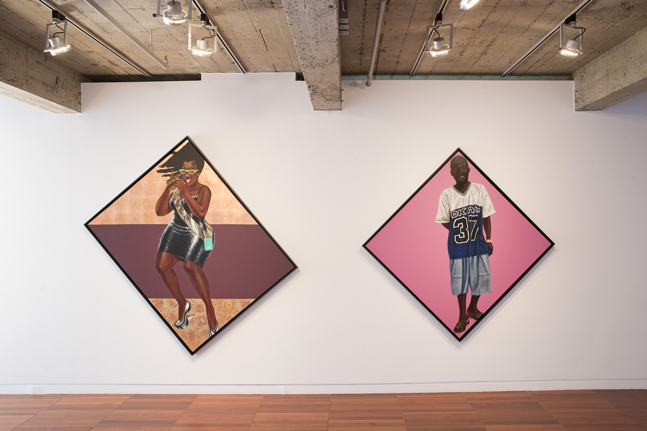 Anthem et JohnWayne, deux œuvres de 2015 de Barkley L. Hendricks, artiste américain disparu en 2017