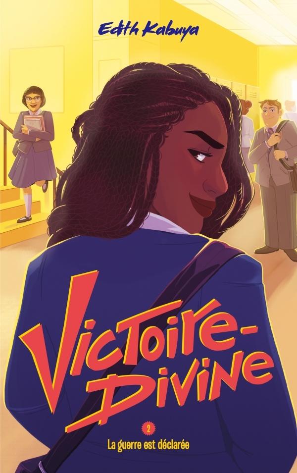 En France, Victoire-Divine paraît chez Hachette. En couverture? Une jeune fille noire à l'air décidé.