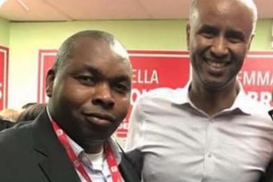 Ekens Azubuike et le ministre fédéral Ahmed Hussen