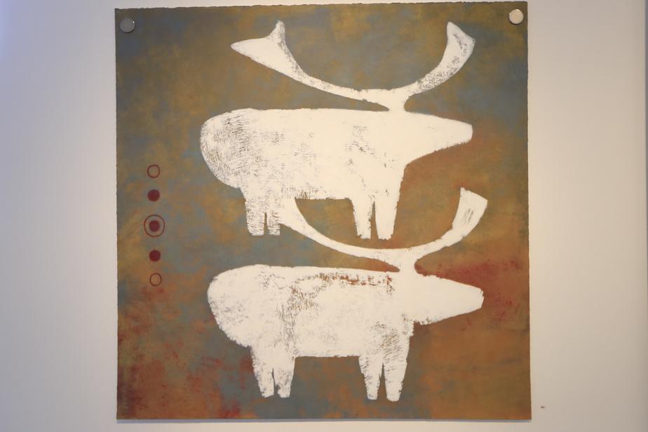 BestiaireII, Lyne Bastien, 2020, acrylique sur papier, 91,4cm x 91,4cm.
