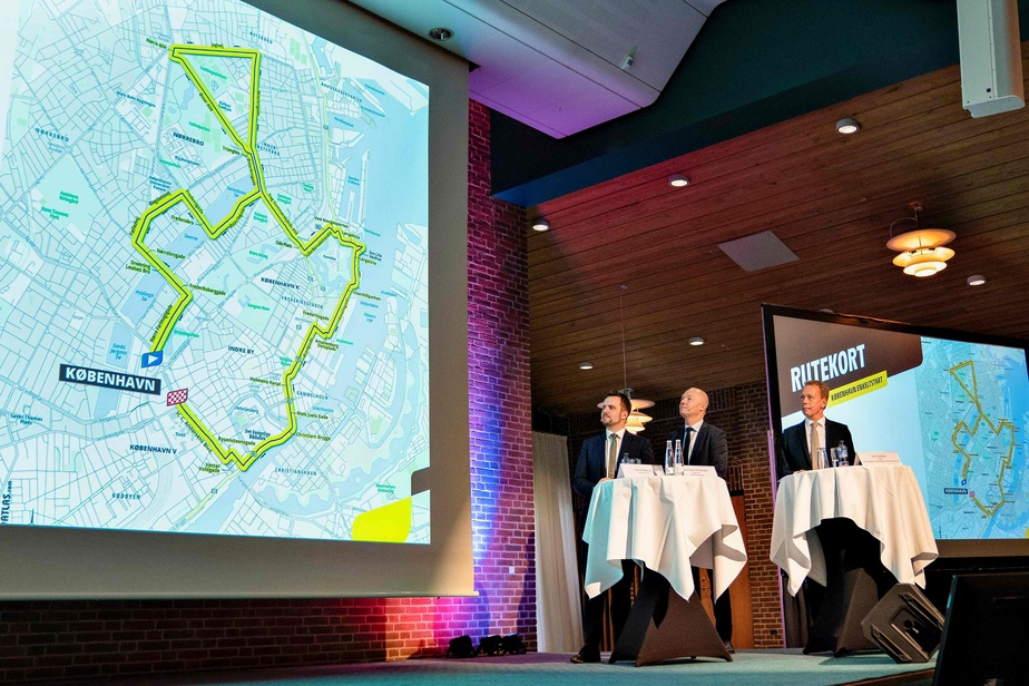 AGENCE FRANCE-PRESSE Le tracé projeté de l'étape danoise du Tour de France